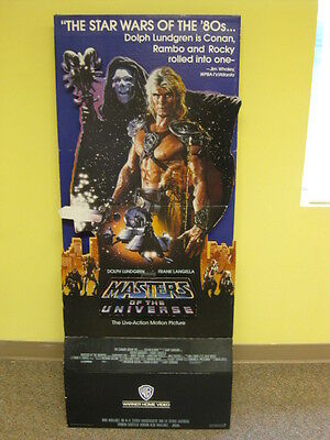 $500 • Buy He-Man Masters Of The Universe Movie Standee Dolph Lundgren (1987) Warner Bros