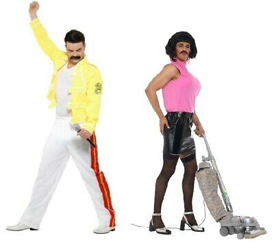 AU61.50 • Buy Men's Queen Freddie Mercury Tribute Fancy Dress Costume Festival Pride 80's Icon