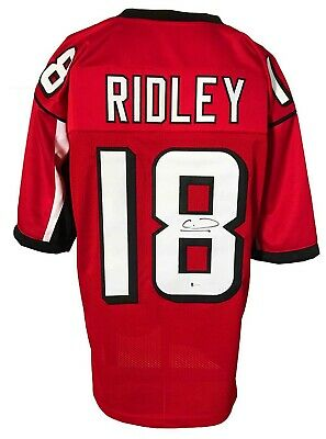 $ CDN5.47 • Buy Calvin Ridley Signed Pro Style Red Jersey BECKETT Authenticated
