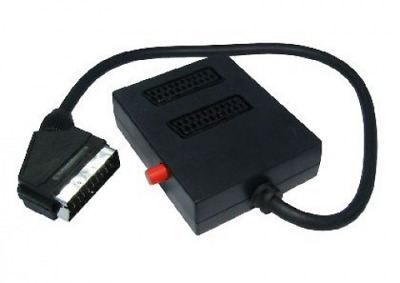 2 Way Scart Splitter & Switch - Switched - 2 In 1 Out Or 1 In 2 • 12.86£