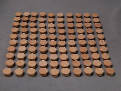 $17.99 • Buy Lot Of 100 NEW 1-1/4  X 3/4  Unfinished Wood Cabinet Drawer Wooden Pull Knob(s)