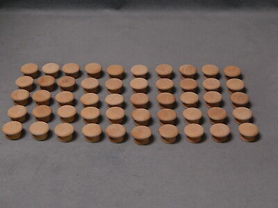$10.99 • Buy Lot Of 50 NEW 1-1/4  X 3/4  Unfinished Wood Cabinet Drawer Wooden Pull Knob(s)