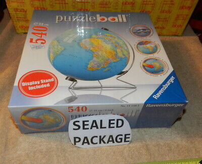 $31.50 • Buy Ravensburger Puzzle Ball The Earth 3D With Stand 540 Pieces Fast Shipped