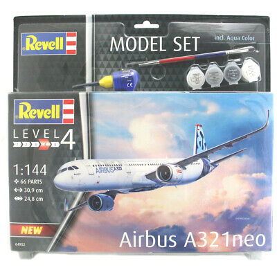 Revell Airbus A321neo Aircraft Model Set - Level 4 - Scale 1:144 - 64952 • 24.99£