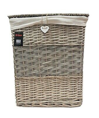 Resin Wicker Laundry Basket With Lid Lock Storage Hamper Medium / Large • 99.99£