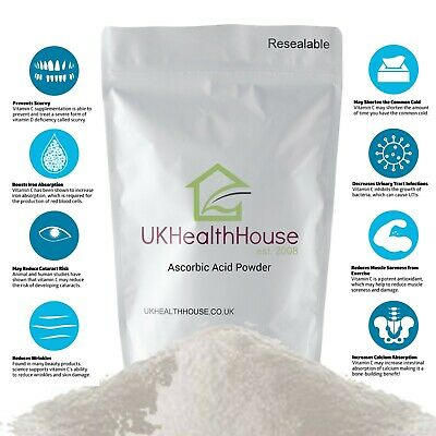 100% Pure Ascorbic Acid - Vitamin C Powder - Anti Oxidant - Food Grade • 6.92£