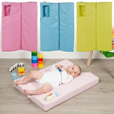 Large Baby Changing Mat Deluxe Soft Padded Waterproof Nappy Diaper Foldable Pad • 7.99£