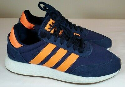 $ CDN65.80 • Buy Adidas I-5923 Blue & Orange Originals Boost Retro Shoes B37919 Size 8 NEW