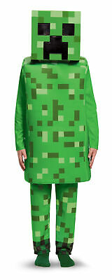 $45.87 • Buy Deluxe Kids Creeper Minecraft Fancy Dress Costume Boys Mojang Game Outfit
