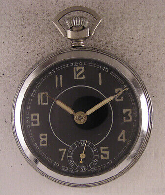 Vintage WW2 Years Military Systeme Roskopf Swiss Pocket Watch Perfect Serviced • 63.31£