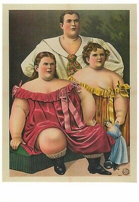 $ CDN3.90 • Buy Fat Family With Child Circus Sideshow Modern Postcard