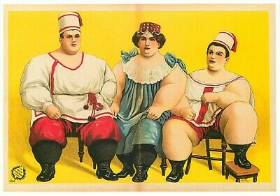 $ CDN3.90 • Buy Fat Family From The Balkans Circus Sideshow Modern Postcard