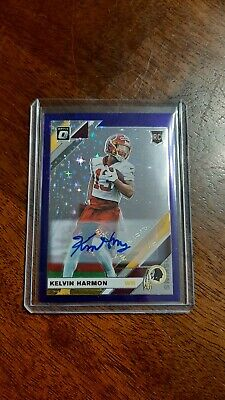 $ CDN46.40 • Buy 2019 Donruss Optic Fotl Kevin Harmon Purple Stars Auto 20 Of 50 Washington...