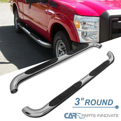 $115.95 • Buy For 99-16 F250 F350 F450 Super Cab 3  Polish Stainless Steel Side Step Nerf Bars