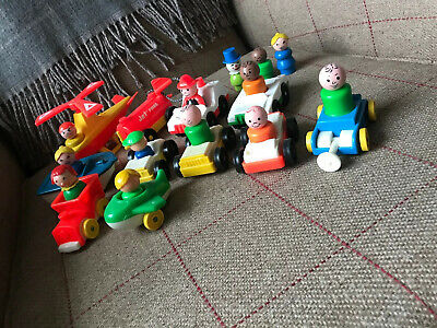 24 Vintage Fisher Price Little People Figures Rare Clown Cars Plane Boat Jet Fue • 11£