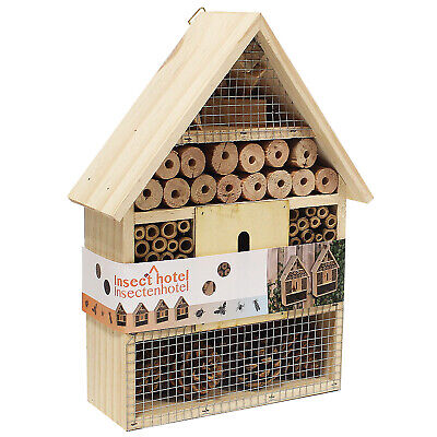 £10.99 • Buy Large Insect Bug Bee Hotel Hanging Wooden House Ladybird Nest Wood Shelter Box