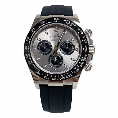 $ CDN46513.53 • Buy Rolex Daytona White Gold Grey Dial Ceramic Bezel Oysterflex 116519 40mm