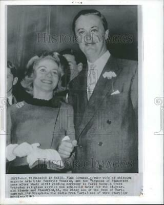 $ CDN28.23 • Buy 1961 Press Photo Tina Livanos Marquess Blandford Marrry - DFPC32601