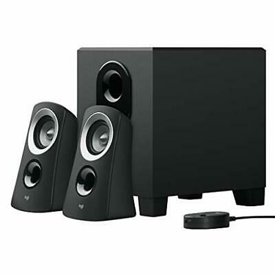 AU213.97 • Buy Logitech PC Speakers PC Z313 Black Stereo 2.1ch Subwoofer Comes With 3.5mm Input