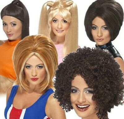 Spice Girls Wig 1990s Fancy Dress Sporty Posh Baby Ginger Scary Spice Girl Power • 14.50£
