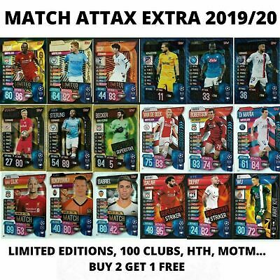 Match Attax Extra 2019/20 19/20 100 Club Limited Editions Man Of The Match Hth • 1.79£
