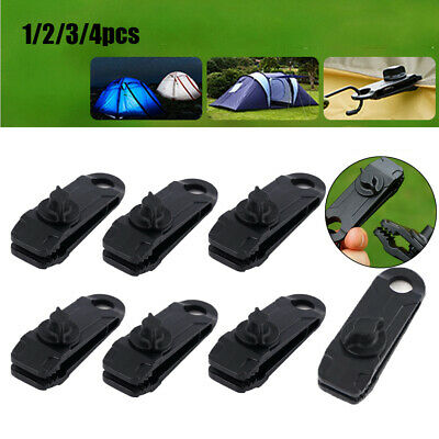Jaw Grip Windproof Clip Hook Canvas Tighten Tool Camping Tent Holder Tarp Clips • 4.36£