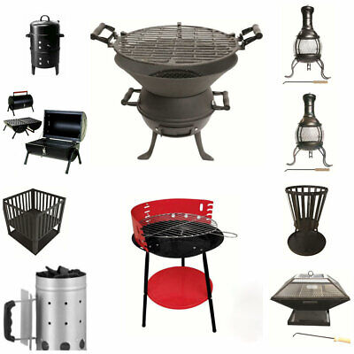 £33.99 • Buy Outdoor BBQ Fire Pit Basket Brazier Barbeque Grill Log Burner Portable Table Top