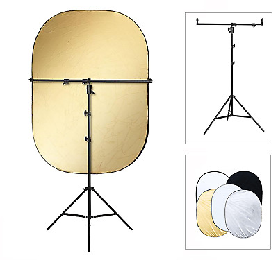 Reflector Holder Studio Boom Arm Light Stand Disc Grip Rotate Photo Photography • 47.99£