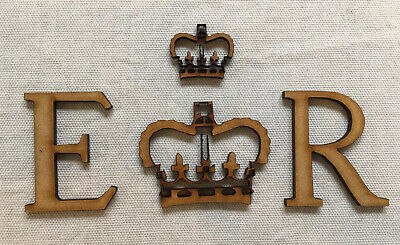 £2.98 • Buy PB2 ER Letters And Crown For Royal Mail Post Box 3mm MDF Craft Blank Shape