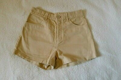 Monki Beige Safari Style High-Waisted Cargo Shorts Size Small 8-10 • 12£