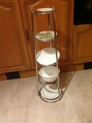 5 Tier Chrome Saucepan Stand /cake Stand/serving • 10.95£