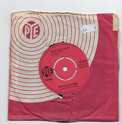 (W821) The Honeycombs, Have I The Right - 1964 - 7 Inch Vinyl • 2.99£