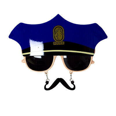 Blue Police Glasses And Hat Fancy Dress YMCA Cop Photobooth Prop Sunglasses NEW • 5.50£