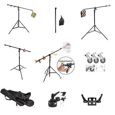 Studio Light Stand Boom Arm Photo Photography Telescopic Extension Softbox UK • 18.99£