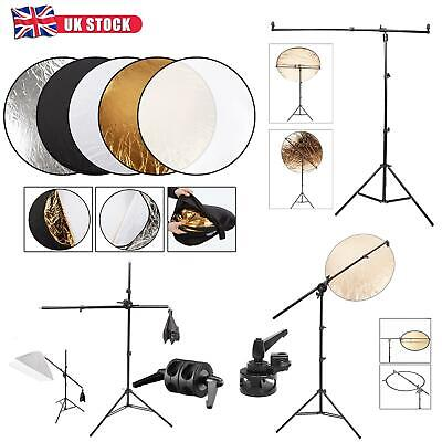 £12.34 • Buy Reflector Holder Studio Boom Arm Light Stand Collapsible Professional Photo Grip