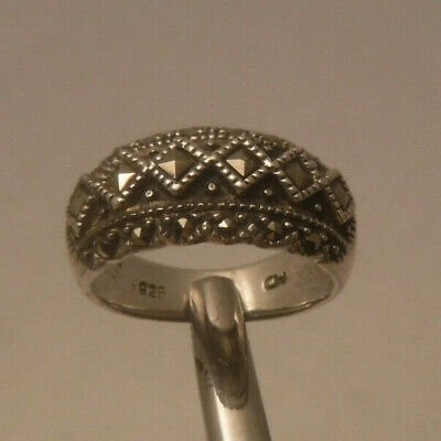 $15 • Buy Vintage CHARLES WINSTON CW 925 STERLING SILVER MARCASITE RING Size 6 NICE**