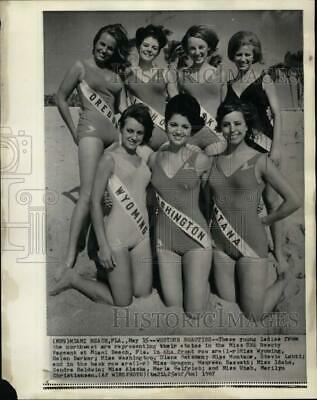 $29.88 • Buy 1967 Press Photo Miss USA Beauty Pageant Young Candidates At Miami Beach Florida