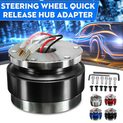 Car Steering Wheel Quick Release Hub Adapter Snap Off Boss Kit Universal 6 Hole • 19.99£