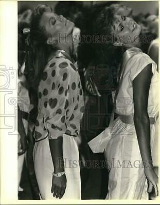 $16.88 • Buy 1985 Press Photo Miss Texas USA Entrants Christy Fitchner; Barrie Eubanks, Texas