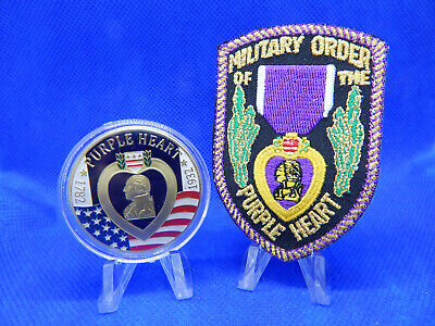 $49.99 • Buy Military Order Of The Purple Heart 1.5  Challenge Coin & 3.0  Purple Heart Patch