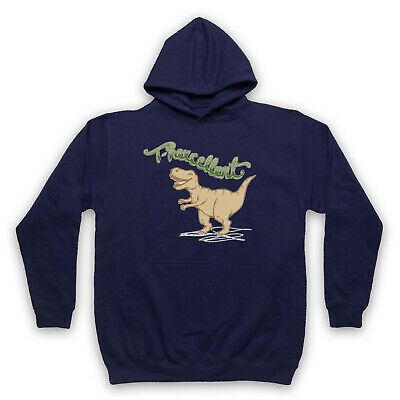T Rexcellent Dinosaur T Rex Cool Cute Illustration Adults Kids Hoodie • 23.99£