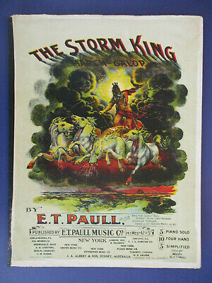 $12.99 • Buy 1902 E.t. Paull 'the Storm King' March Galop Sheet Music Song Horses