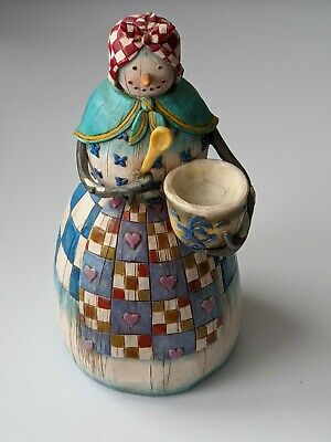 Winter's Comfort Snowman Figurine  Heartwood Creek  -  2003  By Jim Shore • 12.99£