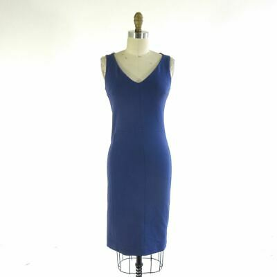$ CDN60.41 • Buy 0 - MM Lafleur French Blue The Rachel V Neck Figure Hugging Dress 0406AC