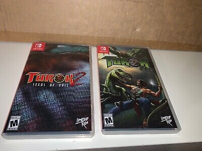 $74.99 • Buy Turok 1 & 2 (Nintendo Switch) Limited Run #33 & #34 L New Rare Lot Set W/cases