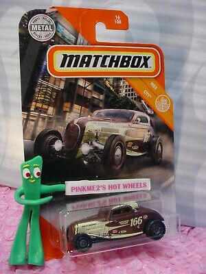 AU3.36 • Buy 2020 Matchbox '33 FORD COUPE #16 Brown; 166 Speed Shop MBX CITY Metal