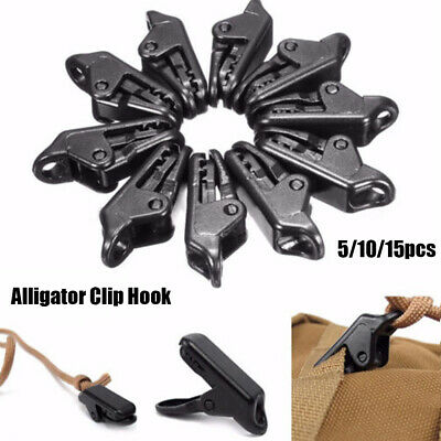 10Pcs Black Tarp Clips Lock Grip Awning Clamp Set Instant Clip Tent Accessories • 3.14£