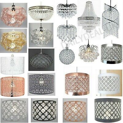 £17.90 • Buy Modern Chandelier Acrylic Crystal Light Shades Droplet Ceiling Pendant Lampshade
