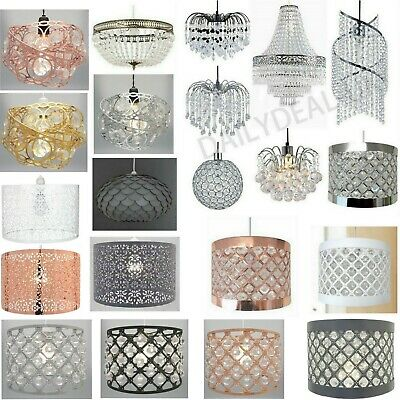 £16.90 • Buy Modern Chandelier Acrylic Crystal Light Shades Droplet Ceiling Pendant Lampshade