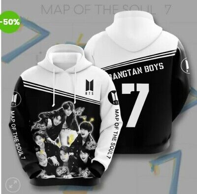 $39.99 • Buy BTS Map Of The Soul 7 Hoodie 3d All Over Print S-5XL